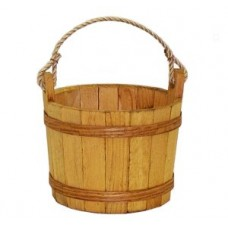 Medium Stained Pine Bucket