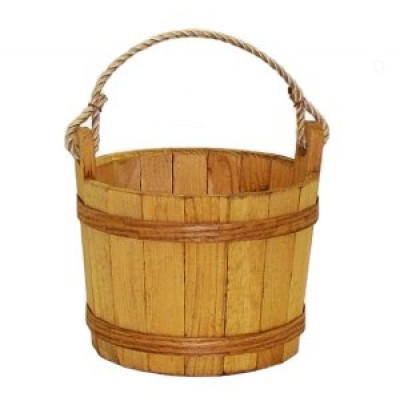 Medium Stained Pine Bucket