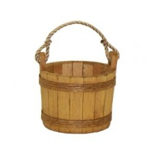 Small Stained Pine Bucket