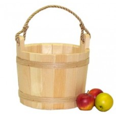 Medium Unstained Pine Bucket