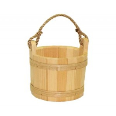 Small Unstained Pine Bucket