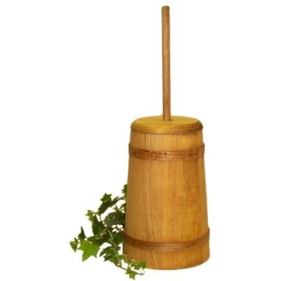 Medium Stained Butter Churn