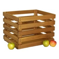 Large Stained Apple Crate - Bushel