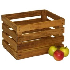 Medium Stained Apple Crate - Half Bushel