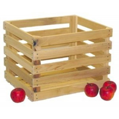 Large Unstained Apple Crate - Bushel