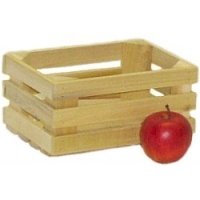 Mini Unstained Apple Crate - Half Peck