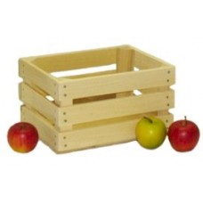 Small Unstained Apple Crate - Peck