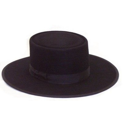 Amish Dress Hat - Telescope Top