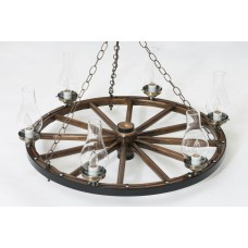 Wagon Wheel Chandeliers (3)
