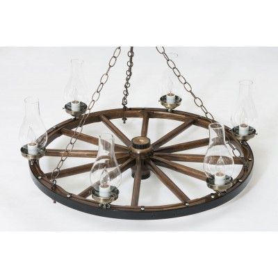 Wagon Wheel Chandeliers